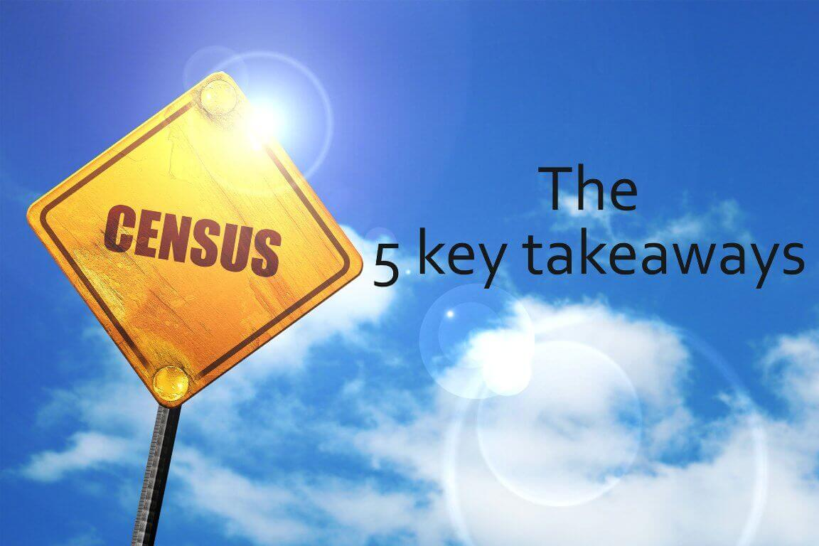 Banner says The 5 key takeaways from Cencus