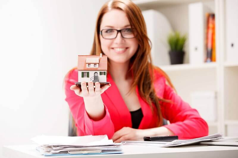 little property in woman hand