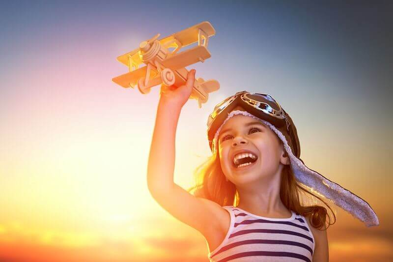 big dream of flight girl